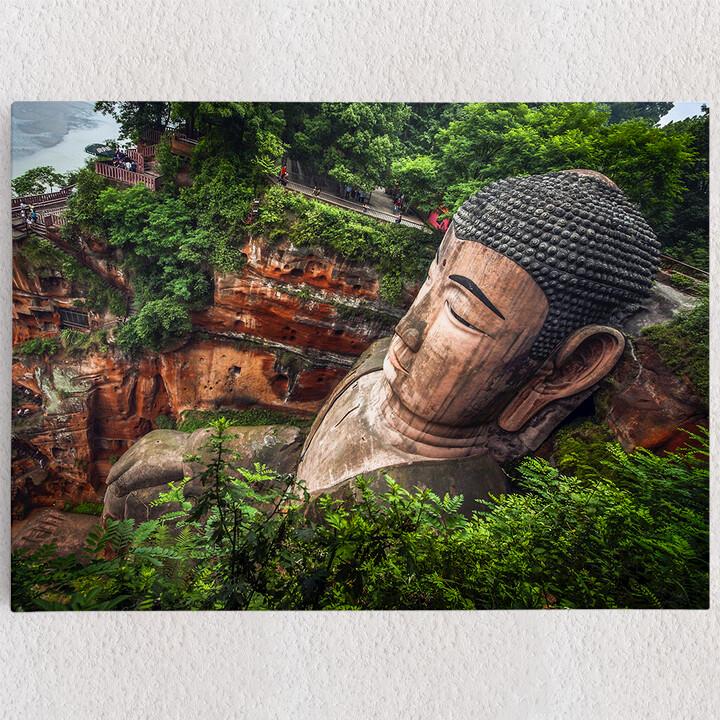 Personalisiertes Leinwandbild Buddha Statur Leshan China