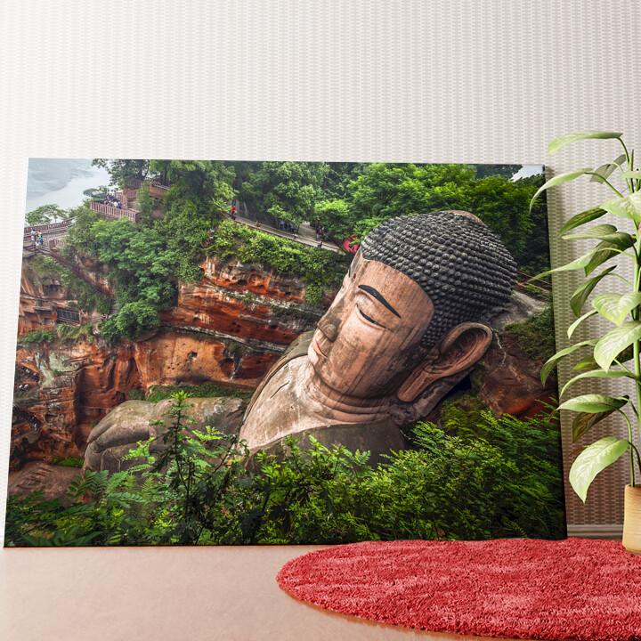 Personalisiertes Wandbild Buddha Statur Leshan China