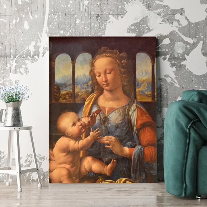 Personalisierbares Geschenk Madonna mit der Nelke