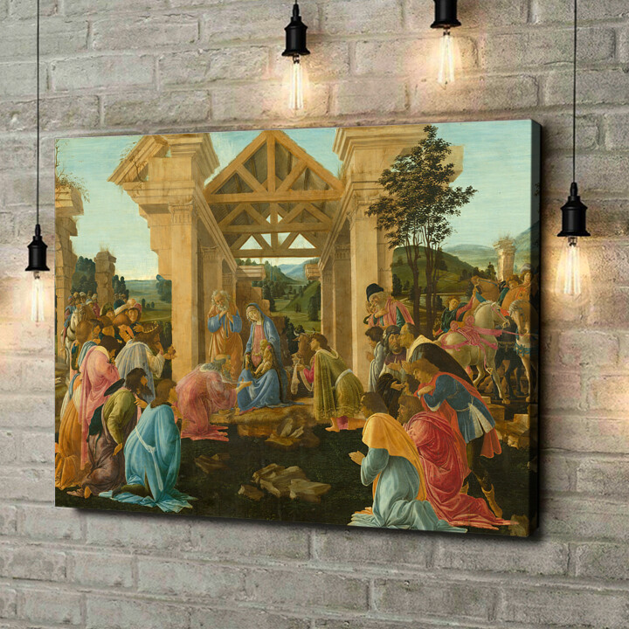 Leinwandbild personalisiert Anbetung der Heiligen drei Könige