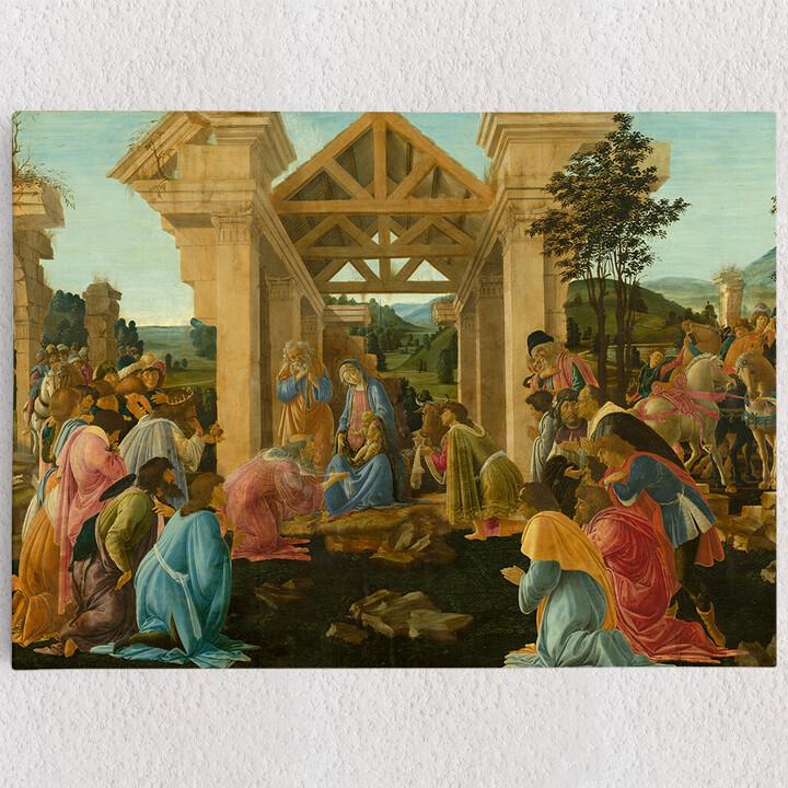 Personalisiertes Leinwandbild Anbetung der Heiligen drei Könige