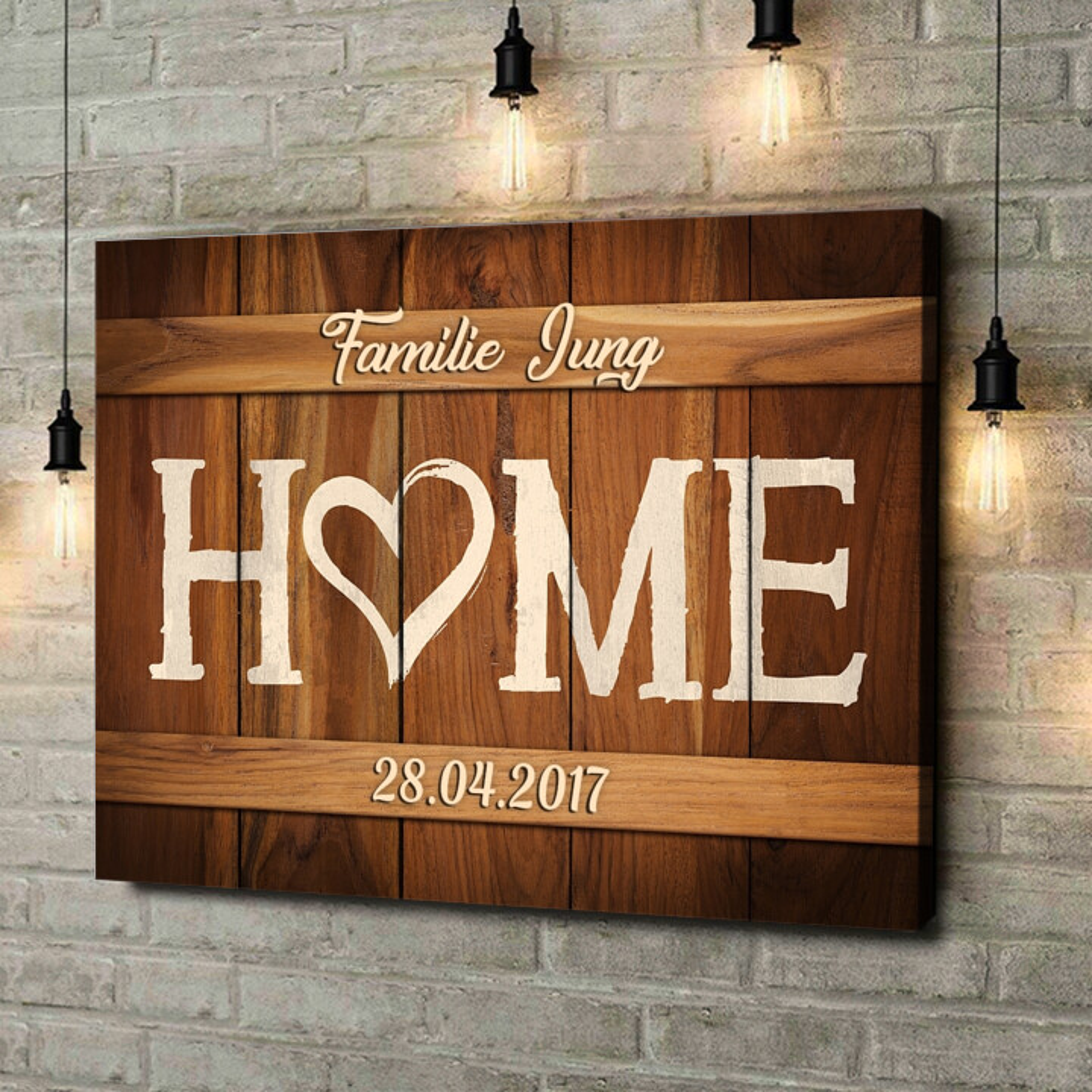 Leinwandbild personalisiert Unser Zuhause