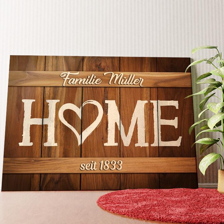 Personalisiertes Wandbild Unser Zuhause