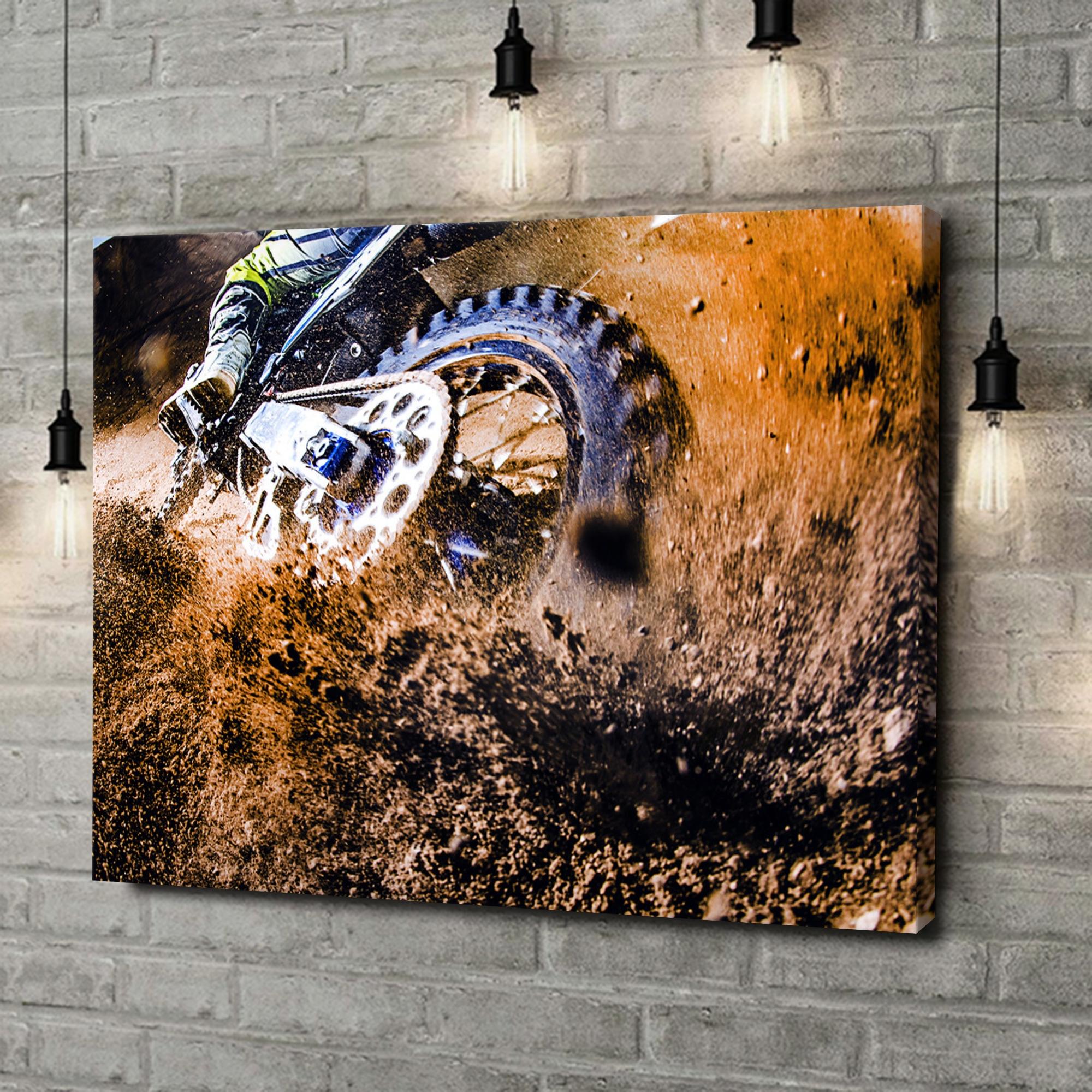 Leinwandbild personalisiert Motocross Bike