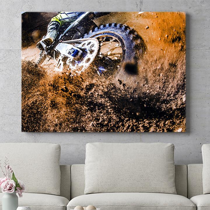 Personalisierbares Geschenk Motocross Bike