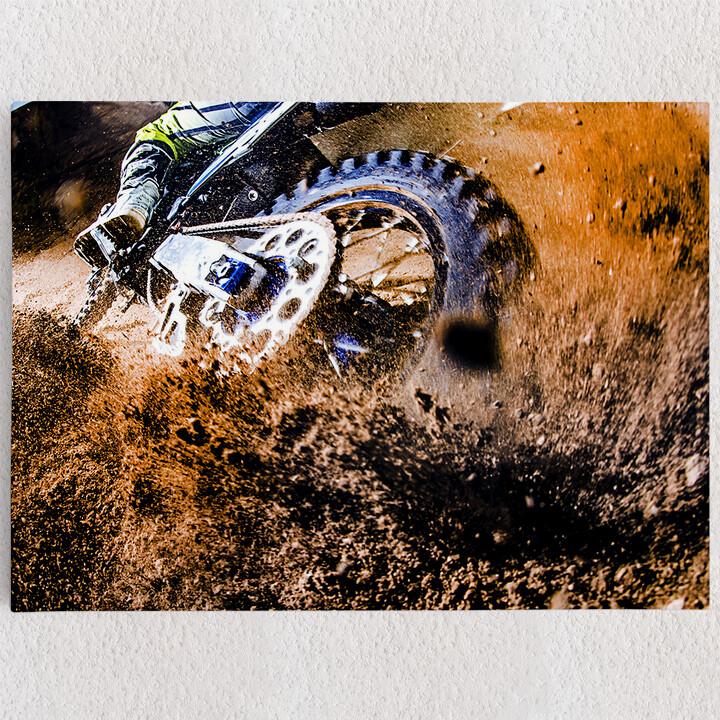Personalisiertes Leinwandbild Motocross Bike