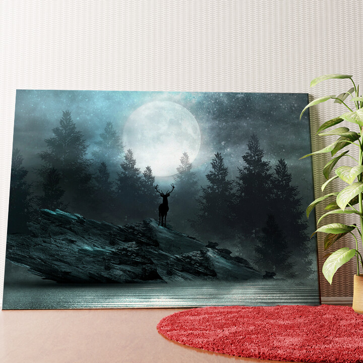Personalisiertes Wandbild Fantasy Hirsch