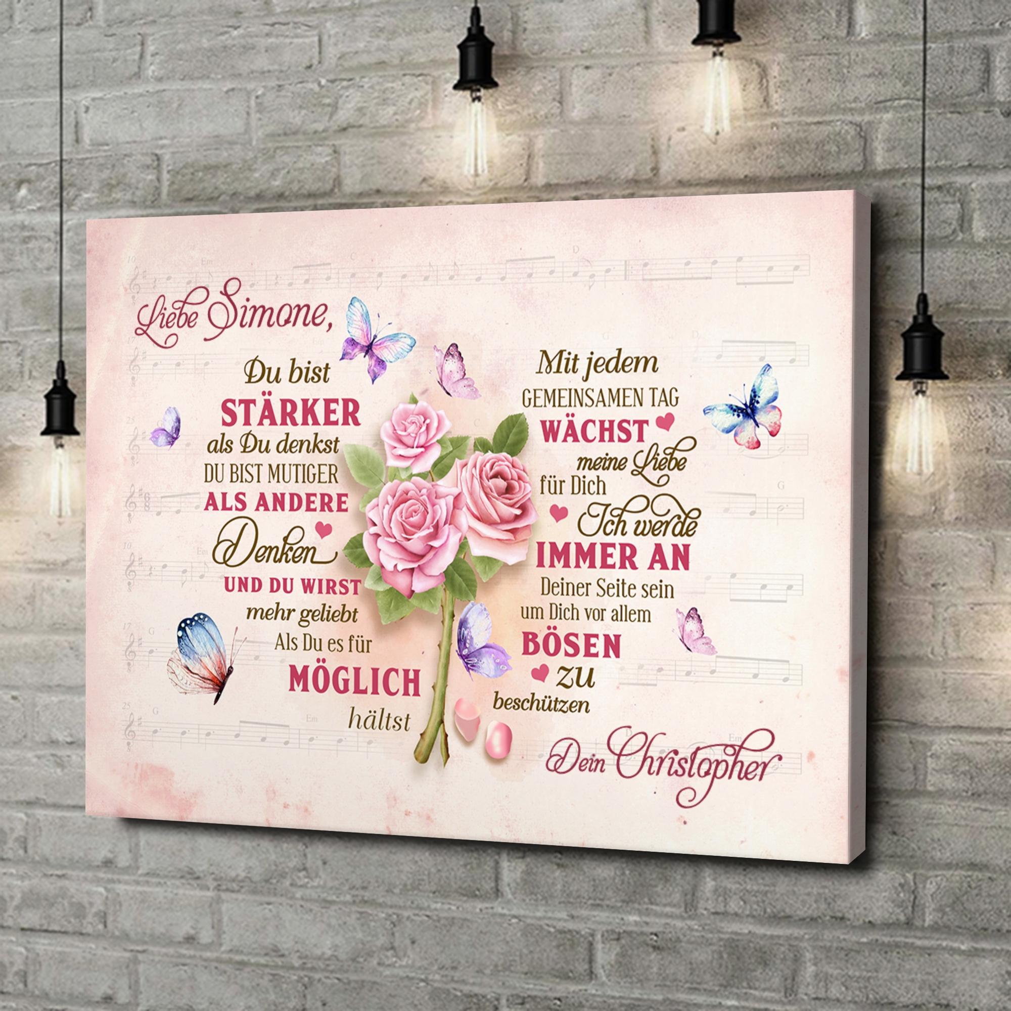 Leinwandbild personalisiert Romantisches Herz