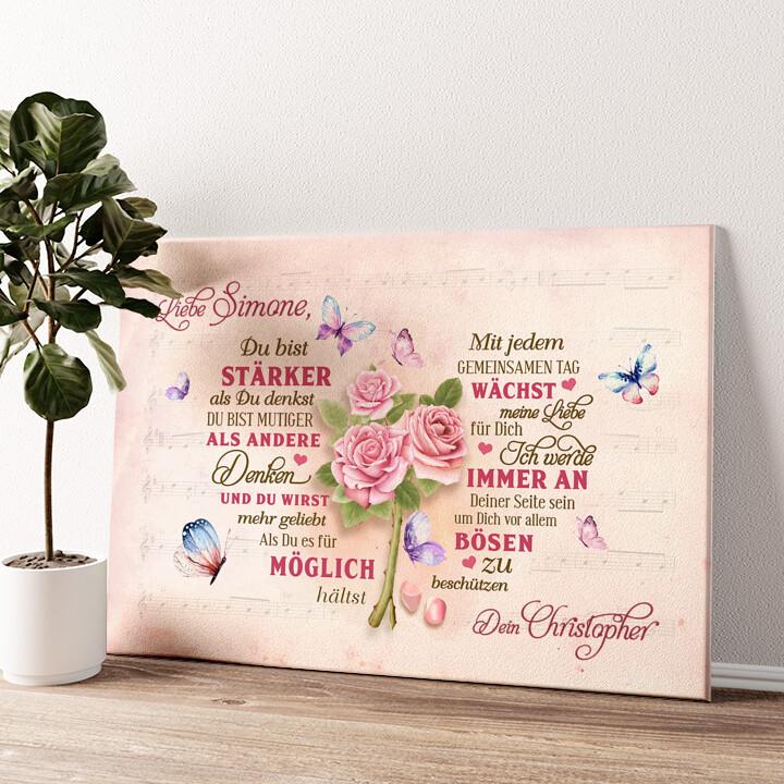 Romantisches Herz Wandbild personalisiert