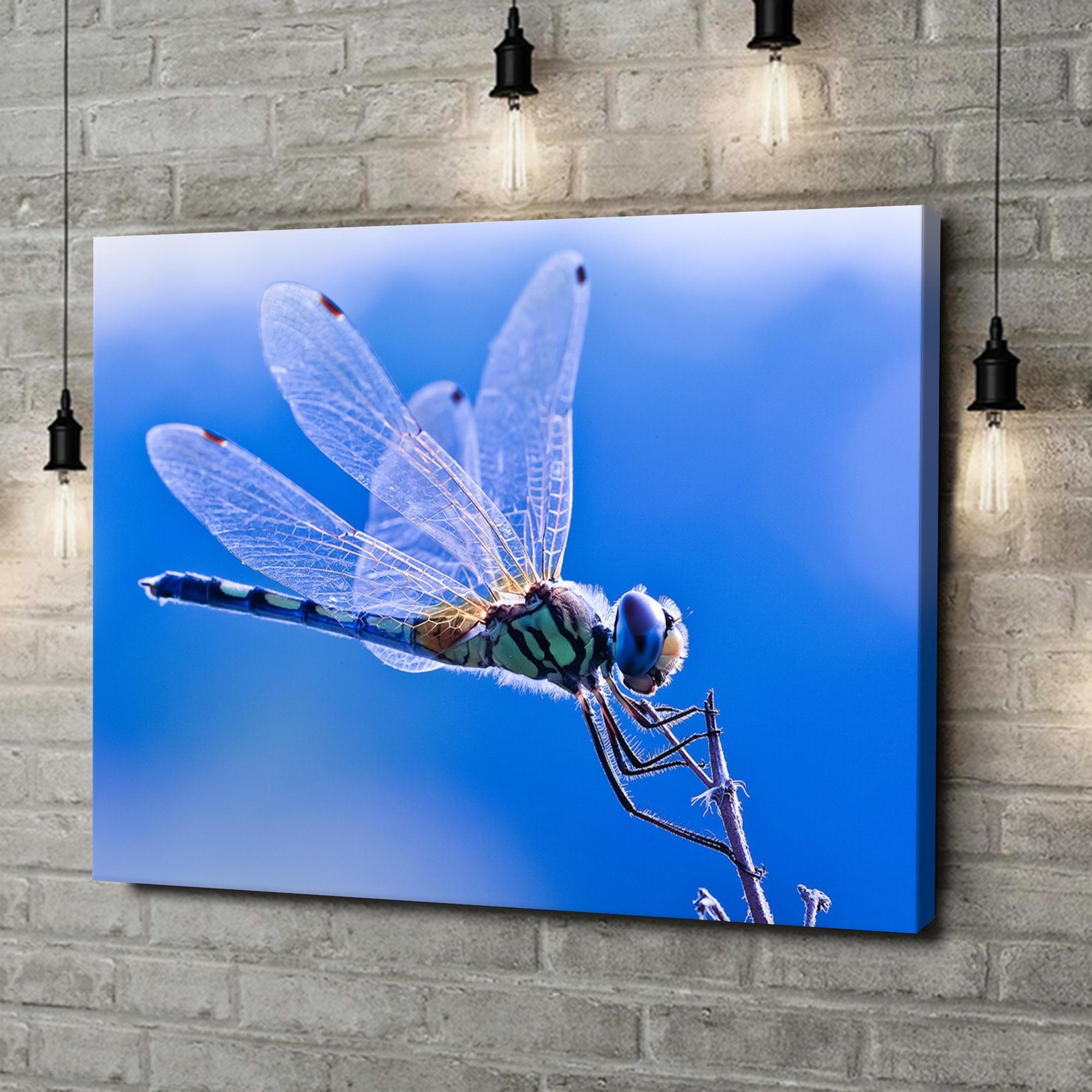 Leinwandbild personalisiert Libelle