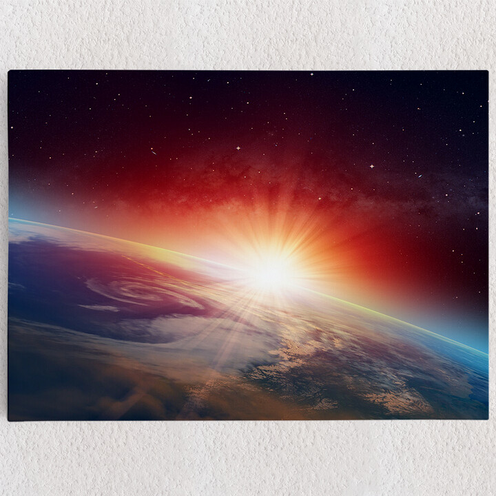 Personalisiertes Leinwandbild Sonnenaufgang im All