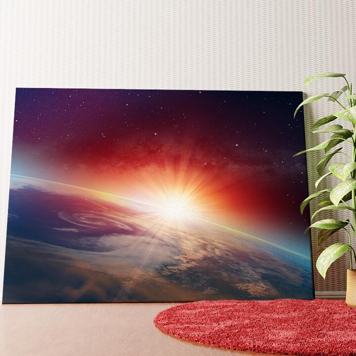 Personalisiertes Wandbild Sonnenaufgang im All
