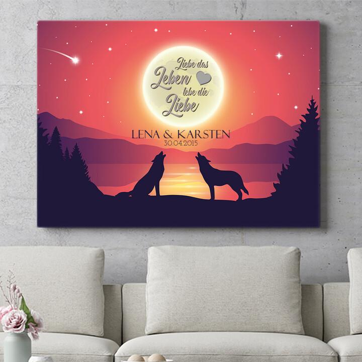 Personalisierbares Geschenk Liebe im Mondschein