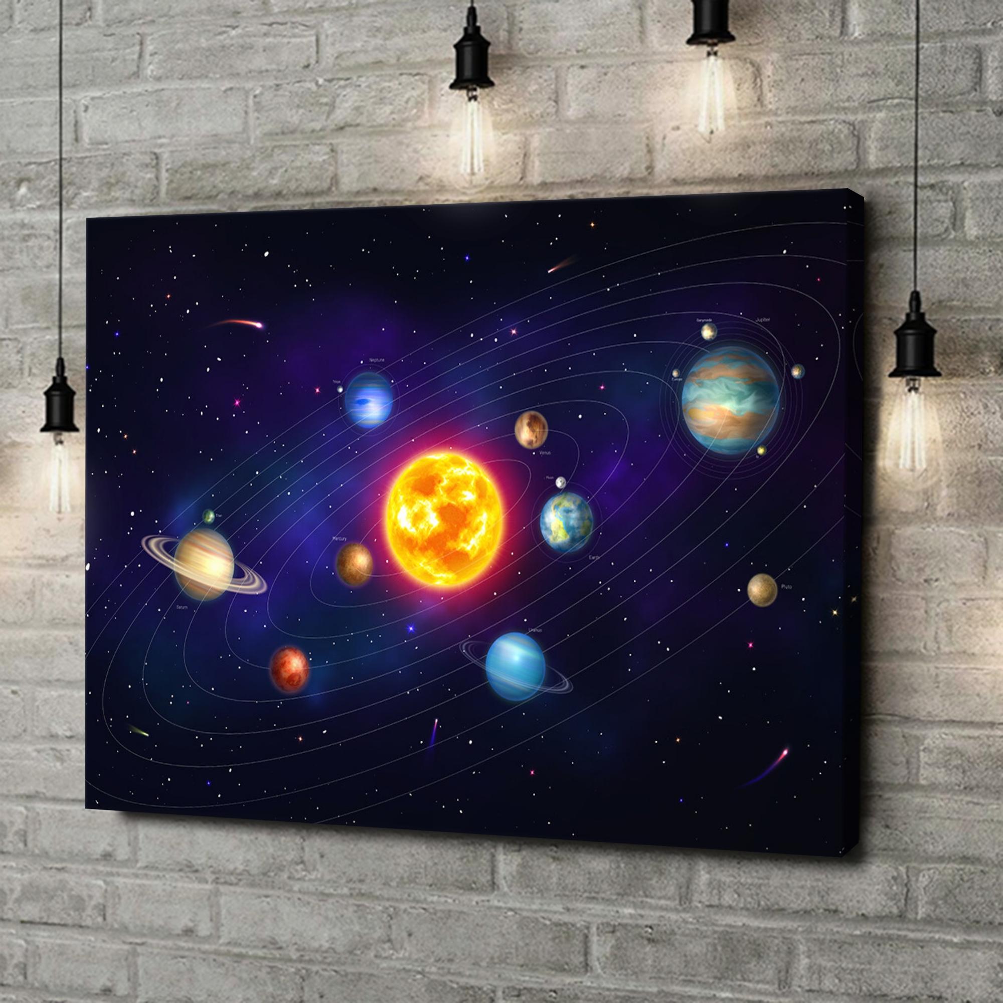 Leinwandbild personalisiert Planetensystem
