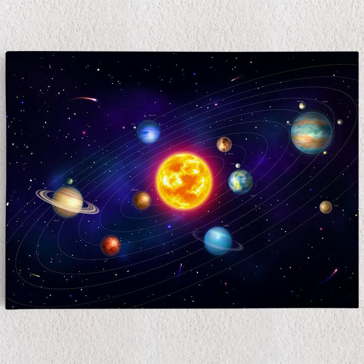Personalisiertes Leinwandbild Planetensystem