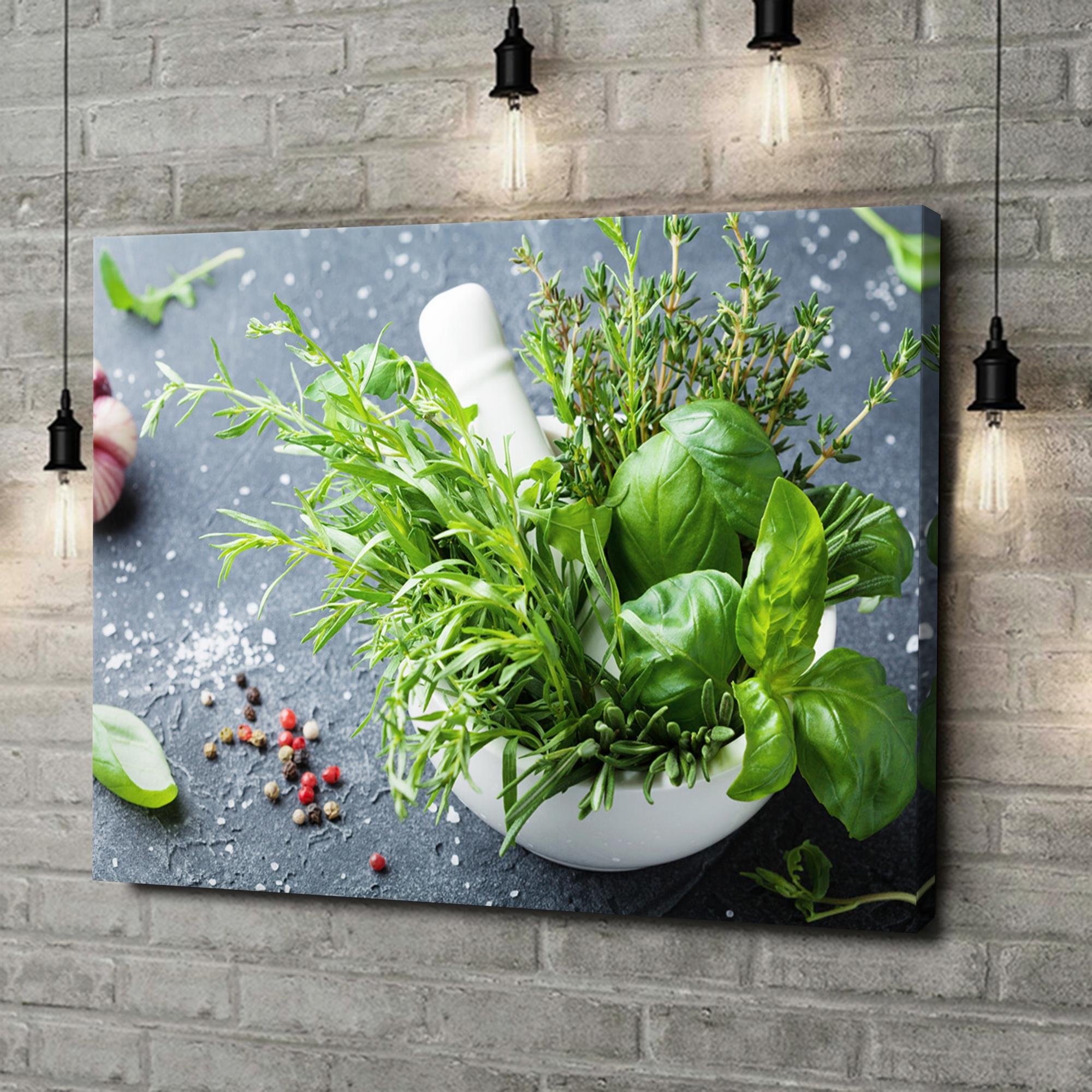 Leinwandbild personalisiert Gartenkräuter