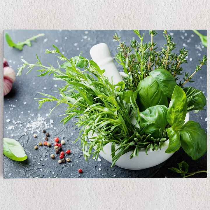Personalisiertes Leinwandbild Gartenkräuter
