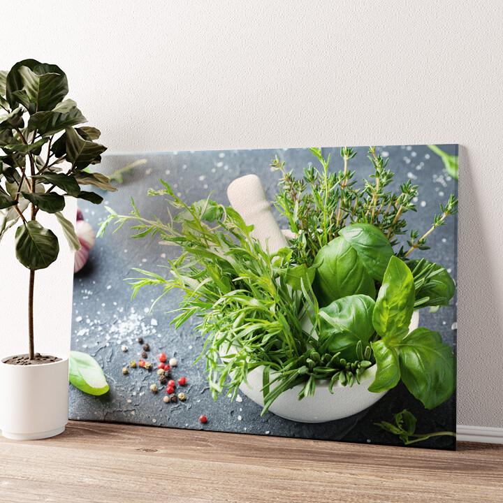 Gartenkräuter Wandbild personalisiert