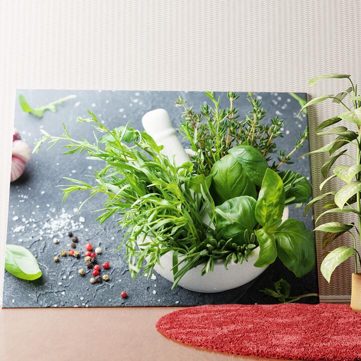 Personalisiertes Wandbild Gartenkräuter