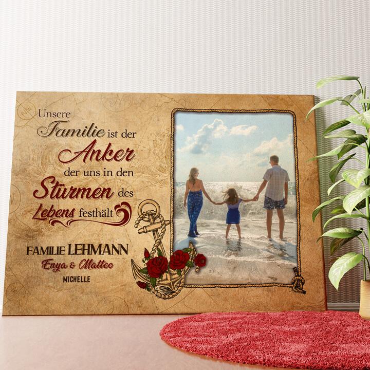 Personalisiertes Wandbild Anker der Familie