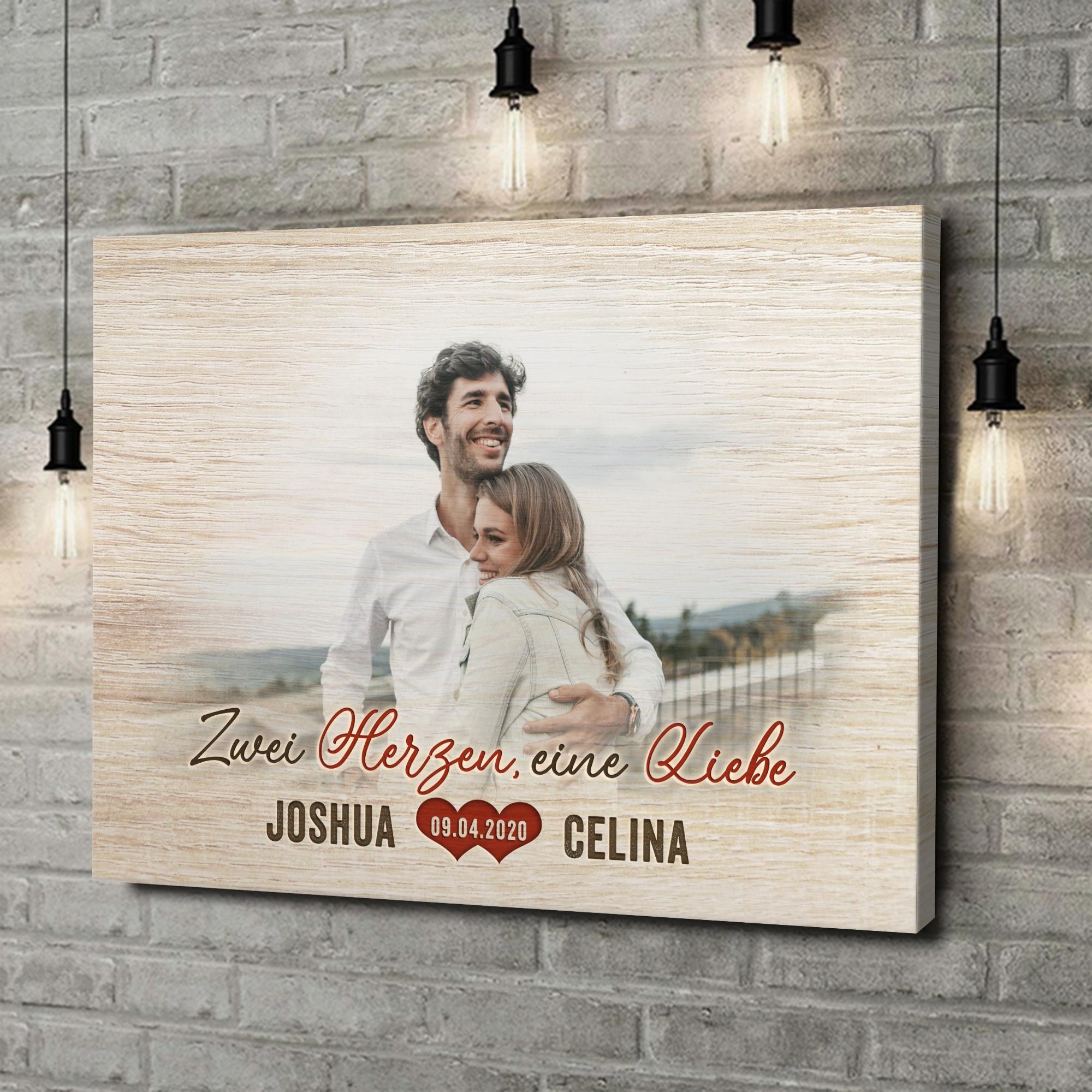 Leinwandbild personalisiert Romantisches Paar