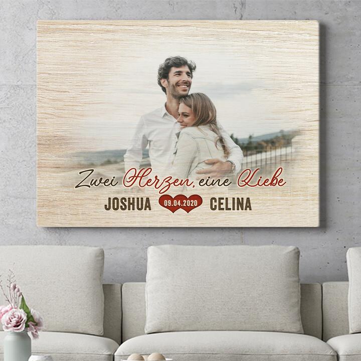 Personalisierbares Geschenk Romantisches Paar