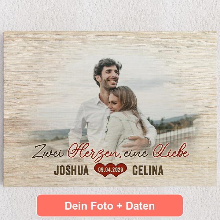 Personalisiertes Leinwandbild Romantisches Paar