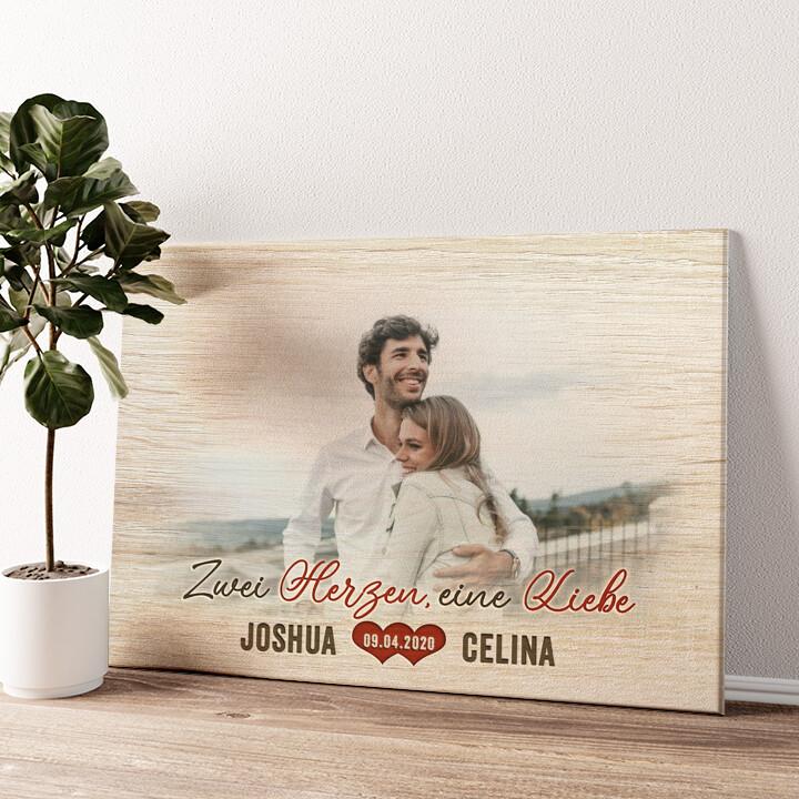 Romantisches Paar Wandbild personalisiert