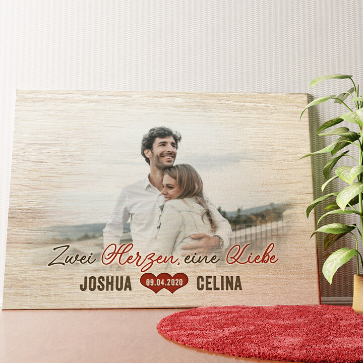 Personalisiertes Wandbild Romantisches Paar