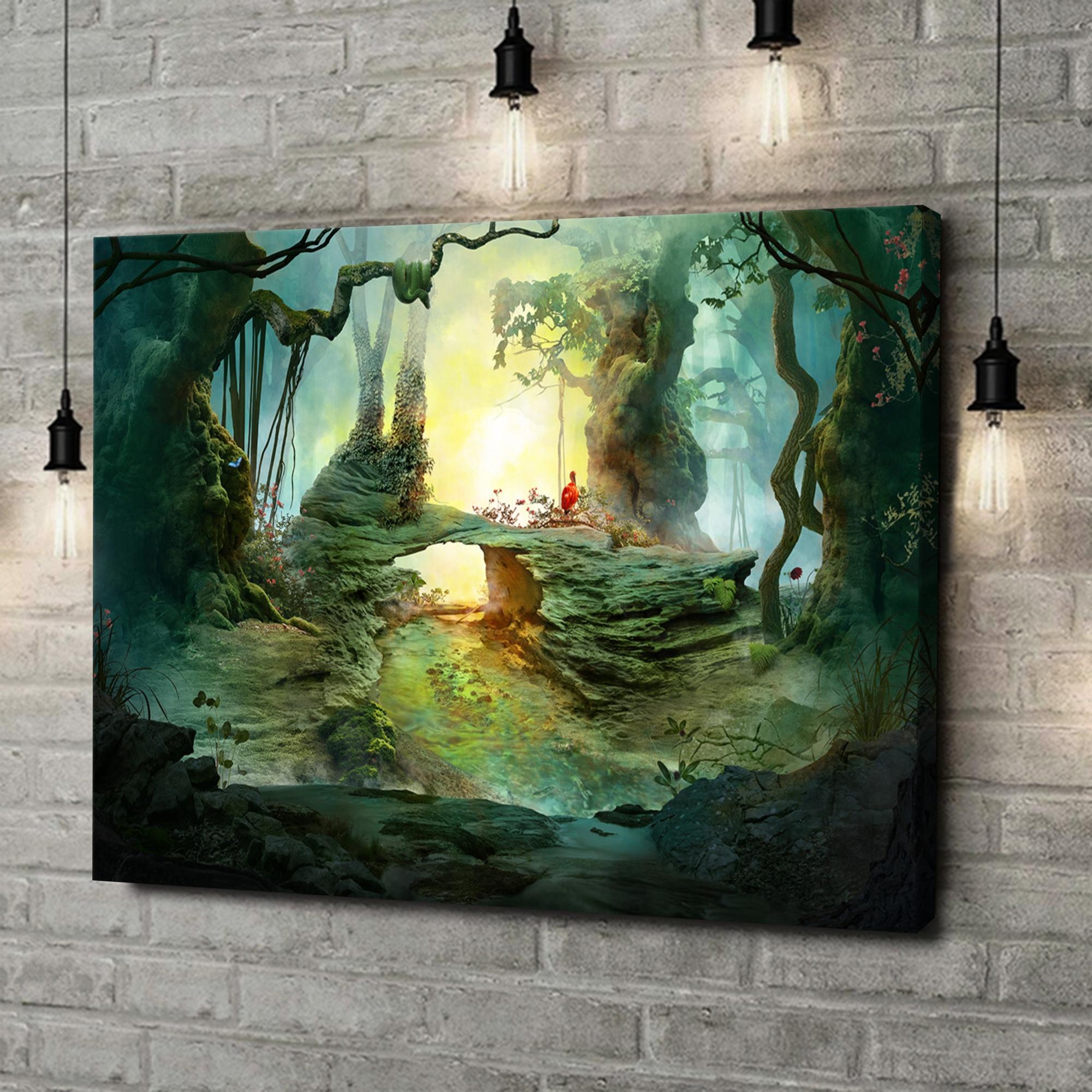 Leinwandbild personalisiert Fantasy Wald