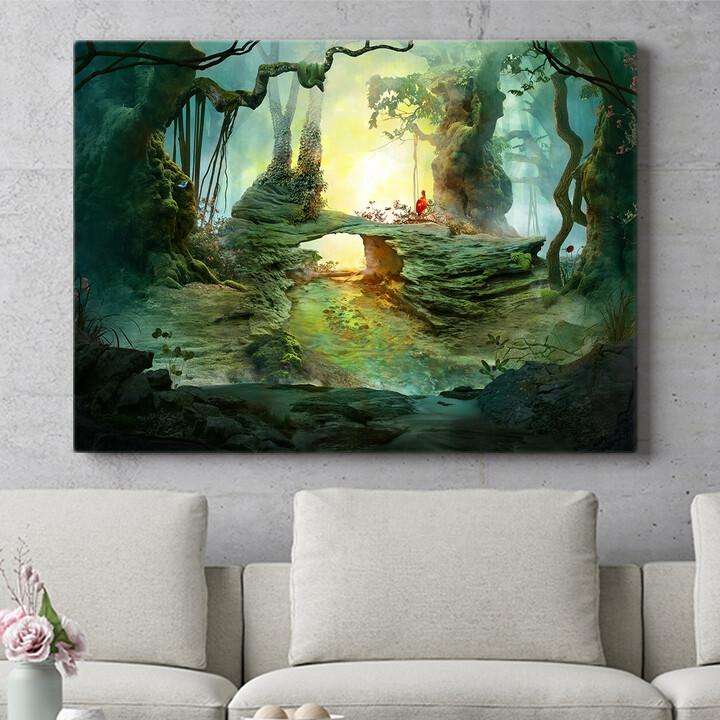 Personalisierbares Geschenk Fantasy Wald