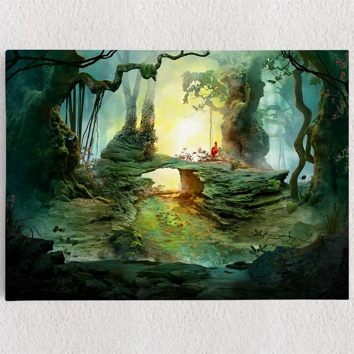 Personalisiertes Leinwandbild Fantasy Wald