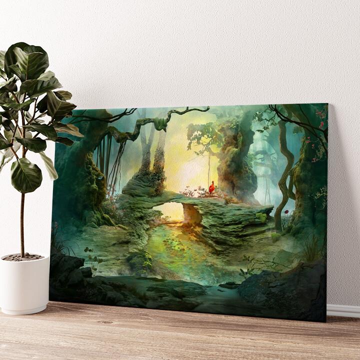 Fantasy Wald Wandbild personalisiert