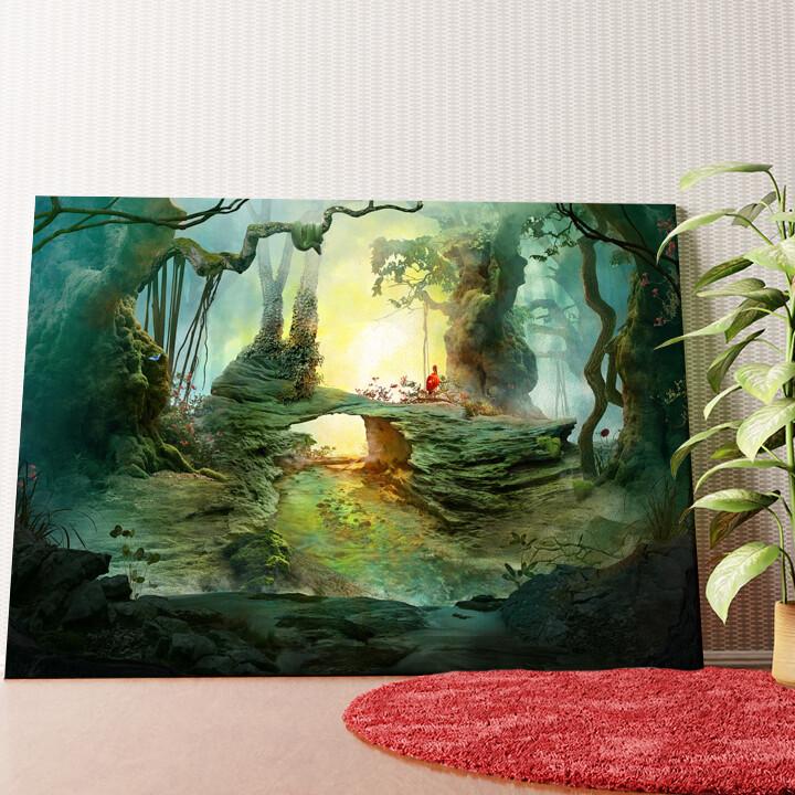 Personalisiertes Wandbild Fantasy Wald