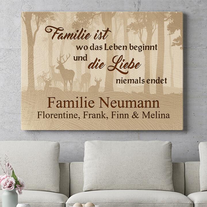 Personalisierbares Geschenk Familie und Leben