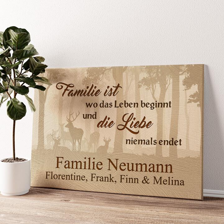 Familie und Leben Wandbild personalisiert