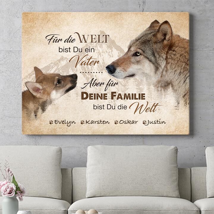 Personalisierbares Geschenk Wolfsvater
