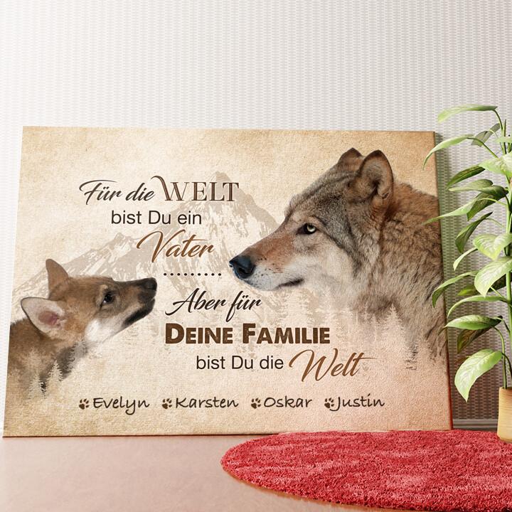 Personalisiertes Wandbild Wolfsvater