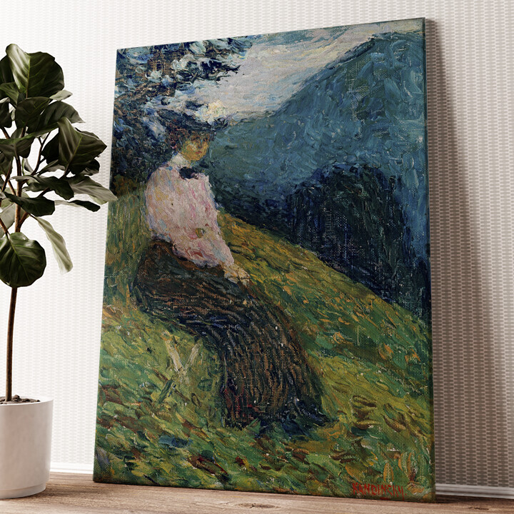 Kochel - Gabriele Münter Wandbild personalisiert