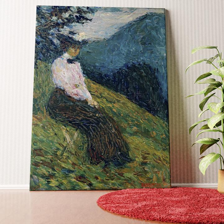 Personalisiertes Wandbild Kochel - Gabriele Münter