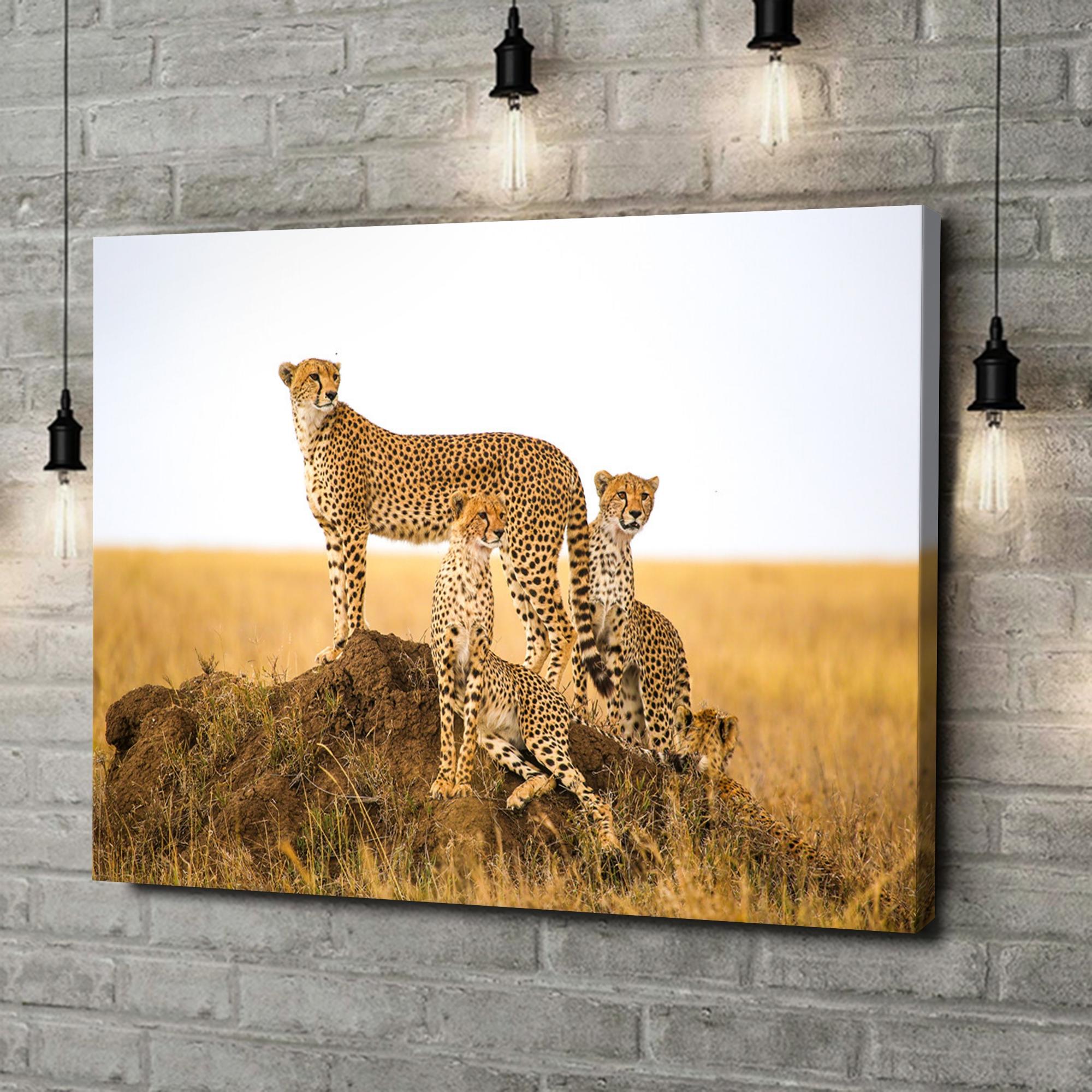 Leinwandbild personalisiert Geparden Serengeti