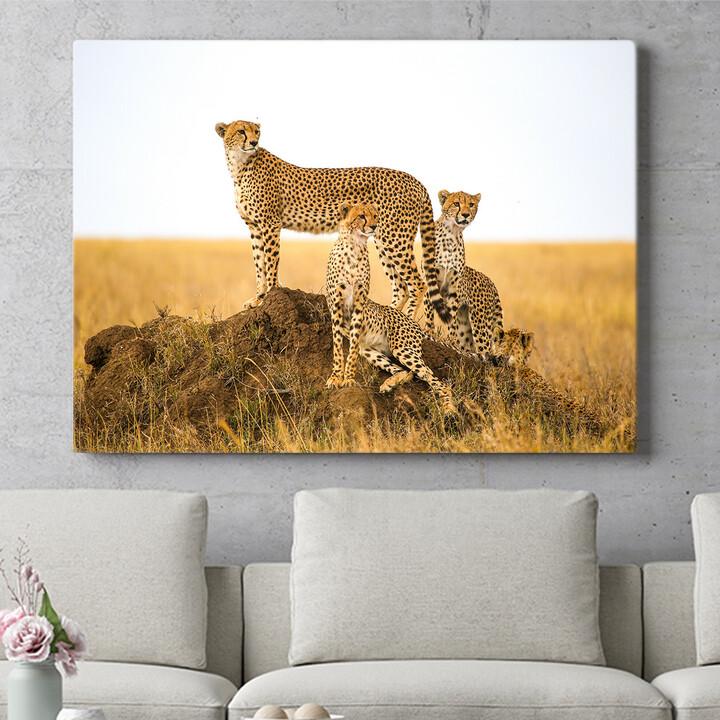 Personalisierbares Geschenk Geparden Serengeti