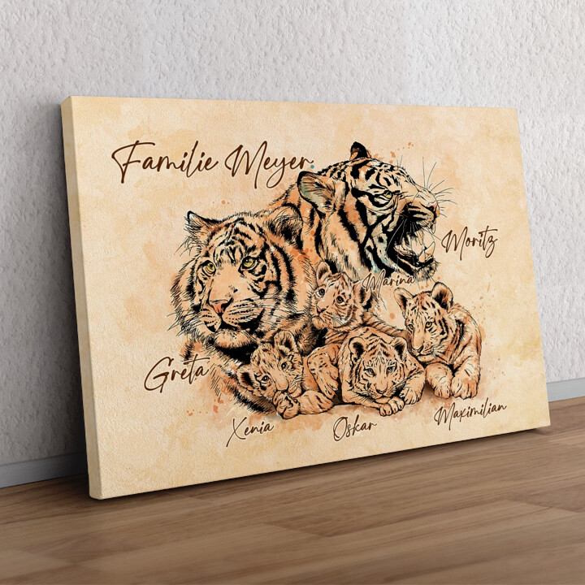 Tigerfamilie