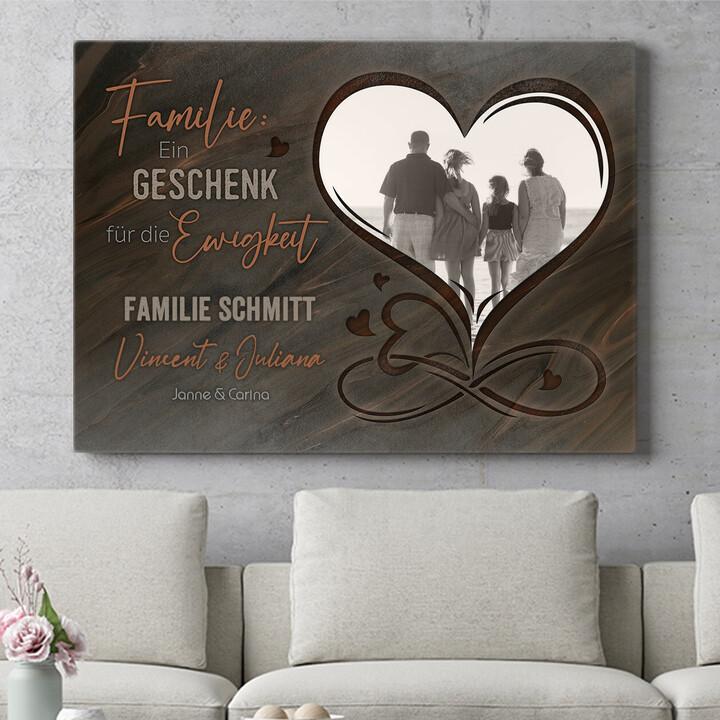 Personalisierbares Geschenk Familie für immer