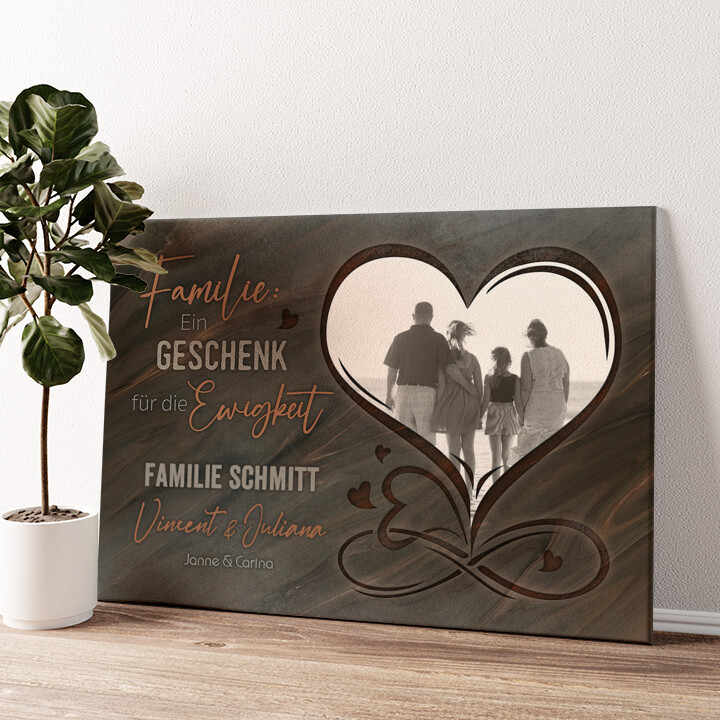 Familie für immer Wandbild personalisiert