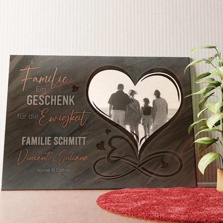 Personalisiertes Wandbild Familie für immer