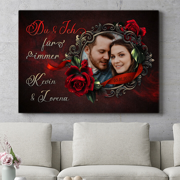 Personalisierbares Geschenk Rose für Dich