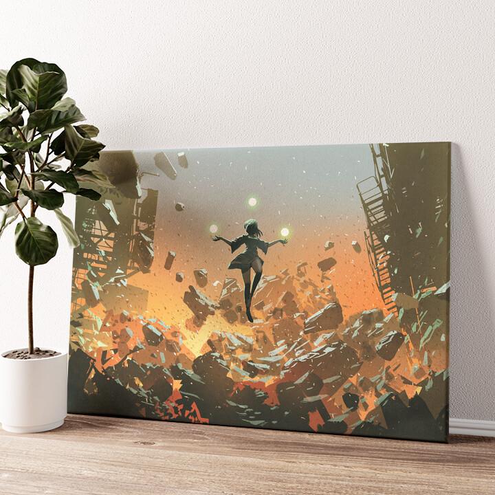 Fantasy Zauberin Wandbild personalisiert