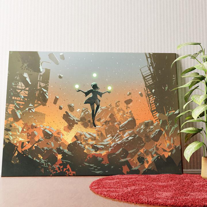 Personalisiertes Wandbild Fantasy Zauberin