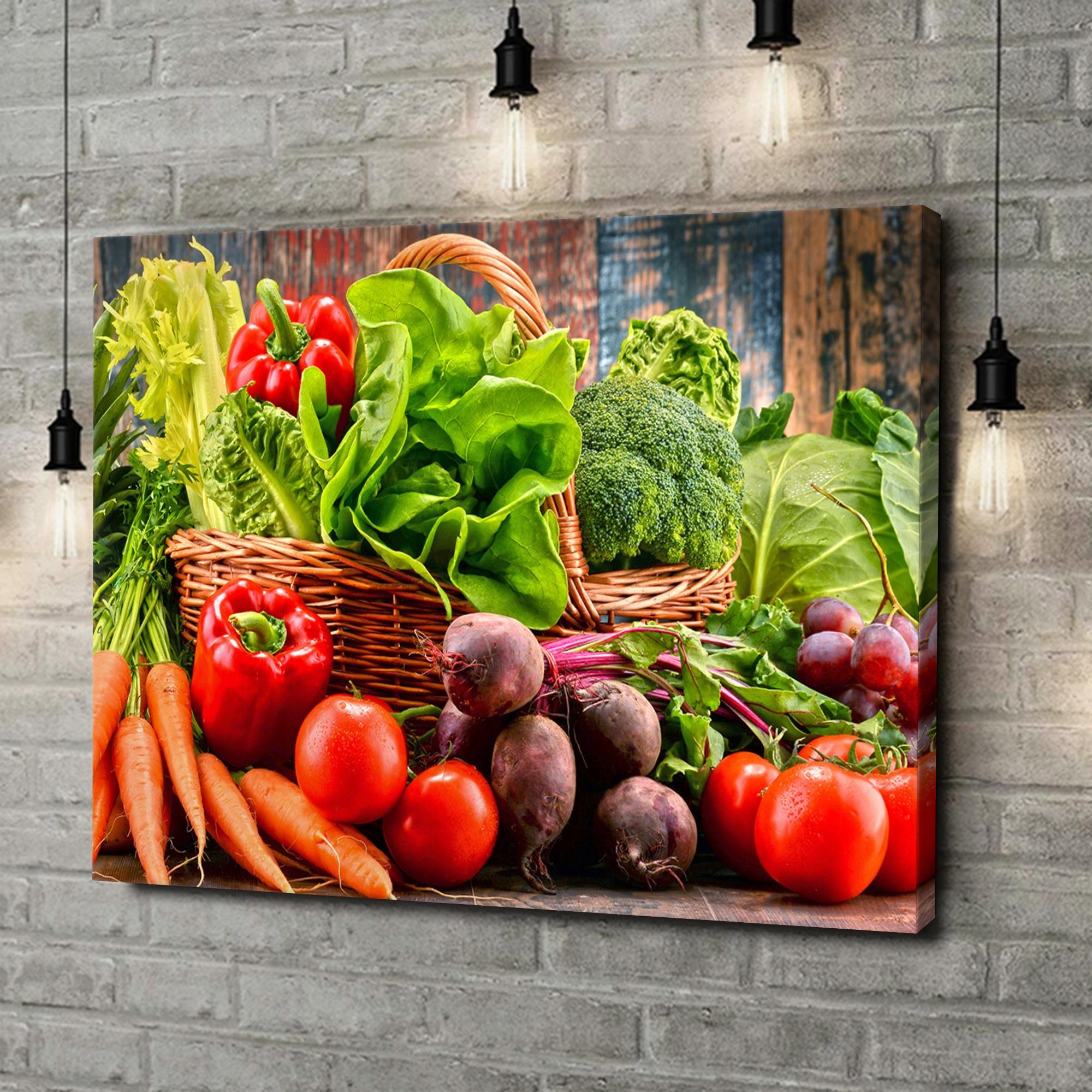 Leinwandbild personalisiert Gemüsesammlung